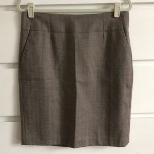 Banana Republic Wool Herringbone Pencil Skirt